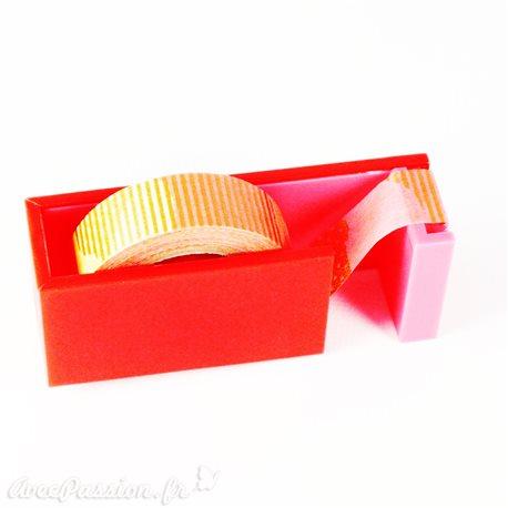 Dérouleur magnétique pour masking tape ruban papier adhésif washi