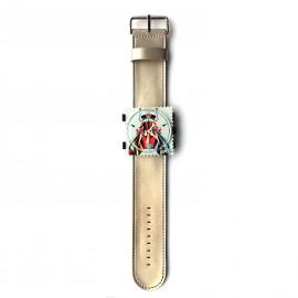 Bracelet de montre Stamps titane glossy