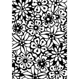 Classeur gaufrage fond bouquet de fleurs Elizabeth Craft Design