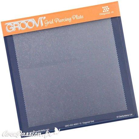 Gabarit pour piquer le parchemin gabarit diagonal Groovi