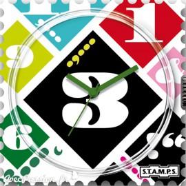 Cadran waterproof de montre Stamps systematic numbers design