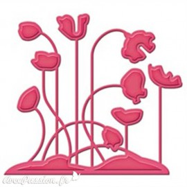 Dies découpe gaufrage fleur coquelicots Shapeabilities Spellbinders