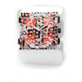 Montre Stamps bracelet de montre blanc élastique belta