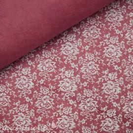 Papier népalais lokta versailles shabby vieux rose et blanc