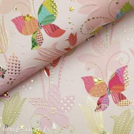 Papier Turnowsky motifs papillons rehaussé de doré