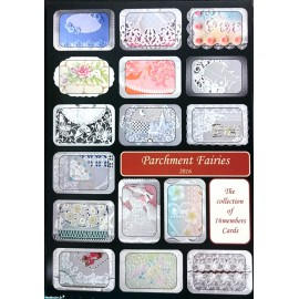 Livre Pergamano Parchment Fairies 2016 collection of 16 members cards