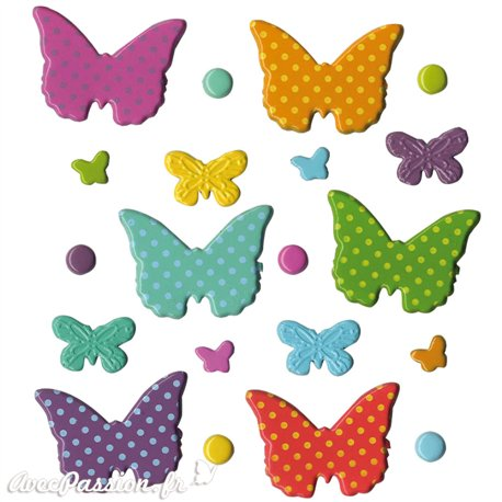 Attaches parisiennes papillons 4 tailles
