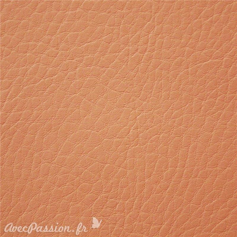 papier simili cuir pour cartonnage cezane pellana orange. Black Bedroom Furniture Sets. Home Design Ideas