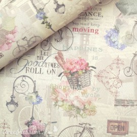 Papier italien motifs vélo