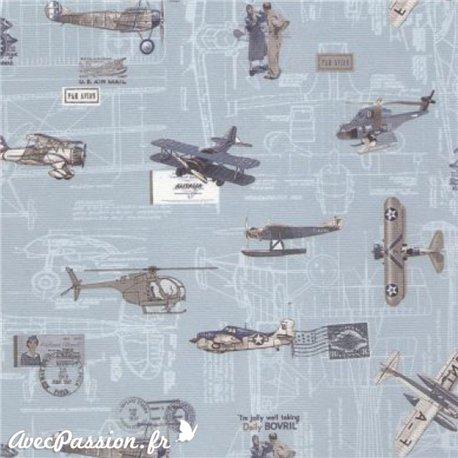Papier italien motifs avions