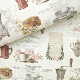 Papier italien motifs thé et café