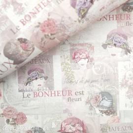 Papier italien motifs chapeaux de femme