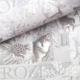 Papier italien motifs animaux du grand nord