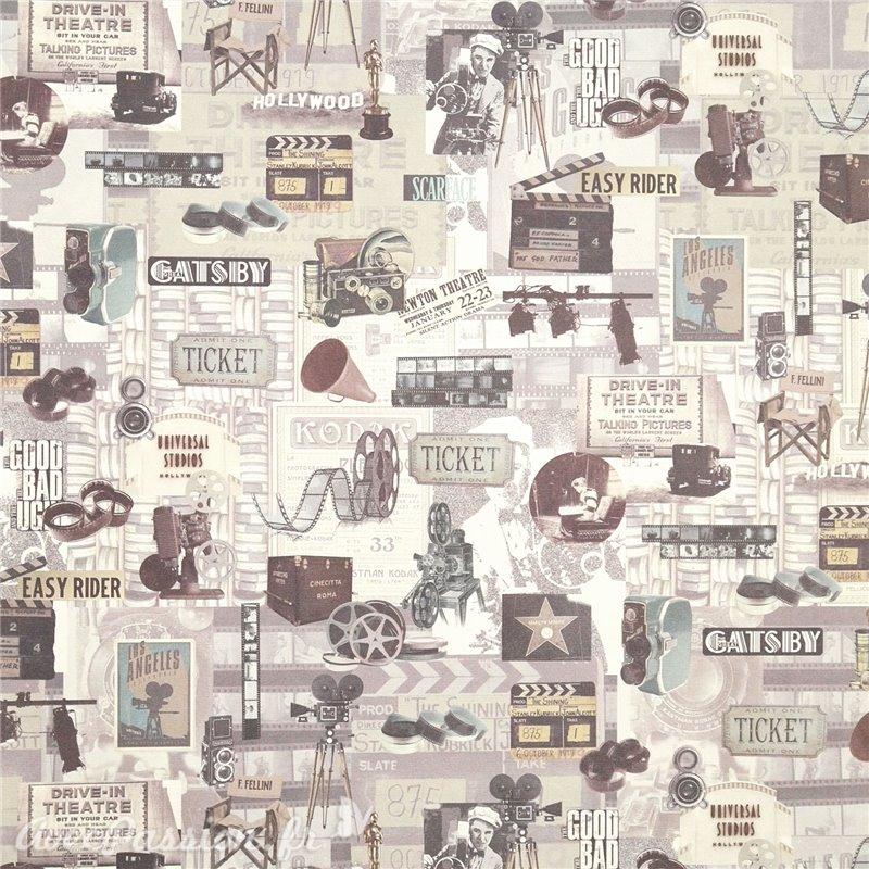 Papier cartonnage, Papier italien motifs cinéma  Achat Vente