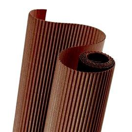 Papier carton ondulé couleur marron