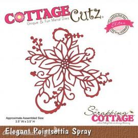 Dies découpe gaufrage matrice CottageCutz fleur poinsetta