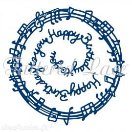 Dies découpe gaufrage birthday en musique