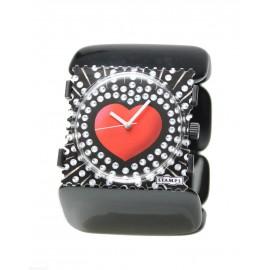 Bracelet élastique de montre Stamps belta noir ovale