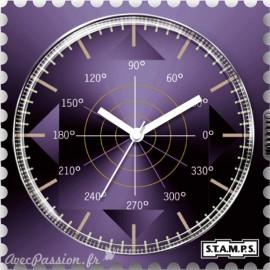 Cadran waterproof de montre Stamps shades of violet