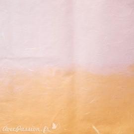 Papier bicolore saumon parme duo tone