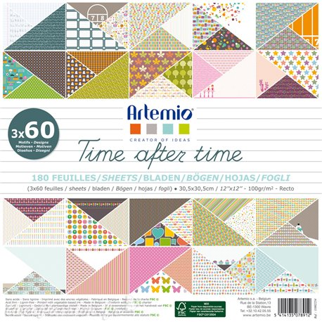 Papier scrapbooking assortiment time after time 180fe