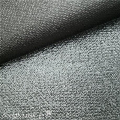 Papier simili cuir vipera titanium 50x70cm
