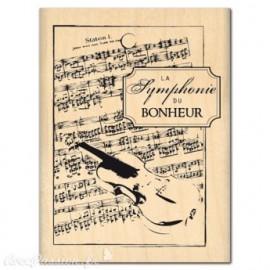 Tampon bois musique la symphonie du bonheur