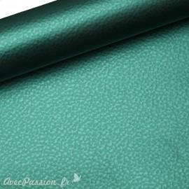 Papier simili cuir martello vert martellé 53x70cm