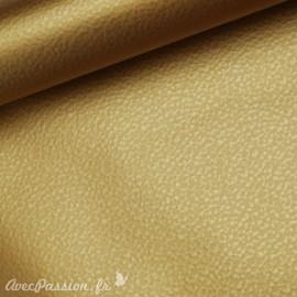 Papier simili cuir martello doré martellé 53x70cm