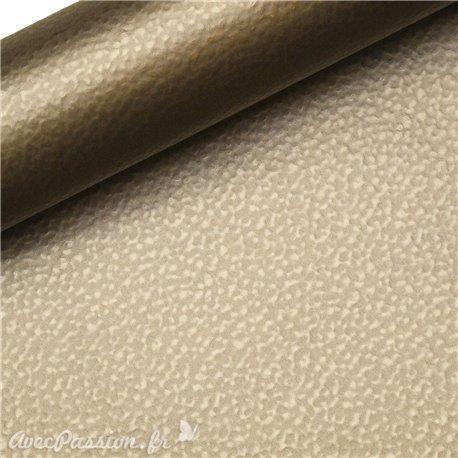 Papier simili cuir martello brun martellé 53x70cm