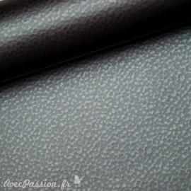 Papier simili cuir martello anthracite martellé 53x70cm