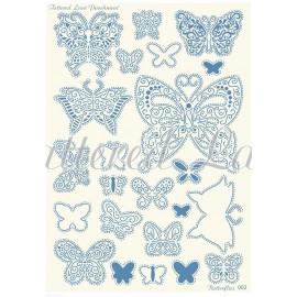 Grille parchemin Tattered Lace Parchment papillons 02