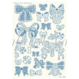 Grille parchemin Tattered Lace Parchment noeuds 03
