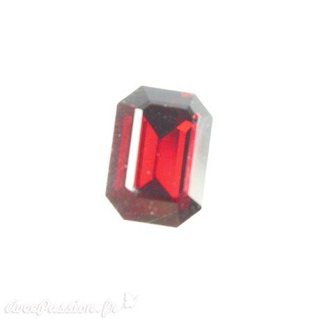 Cabochon Swarovski rectangulaire ruby