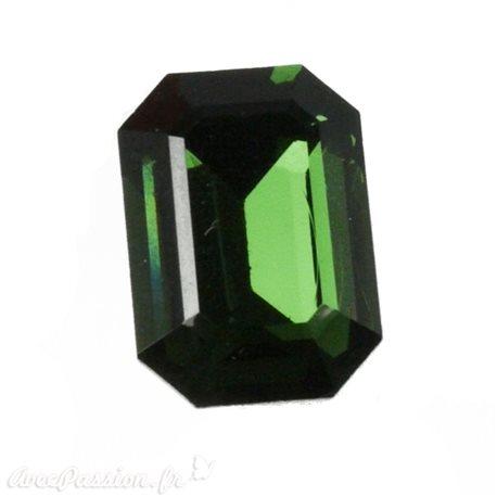 Cabochon Swarovski rectangulaire vert