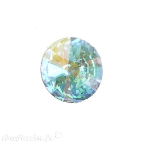Cabochon Swarovski rond cristal AB