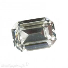 Cabochon Swarovski rectangulaire cristal