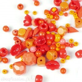 Assortiment de perles nuances orange