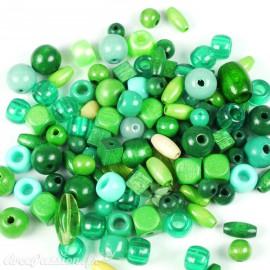Assortiment de perles vertes