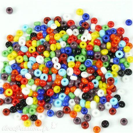 Perles de rocaille couleurs vives