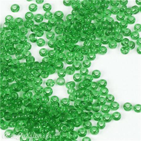 Perles de rocaille vert