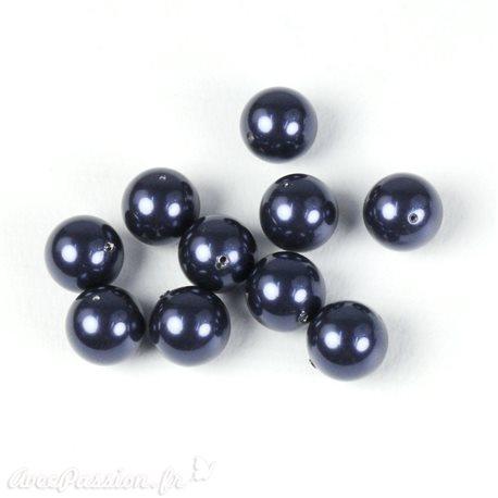Perles culture bleu nuit 10mm
