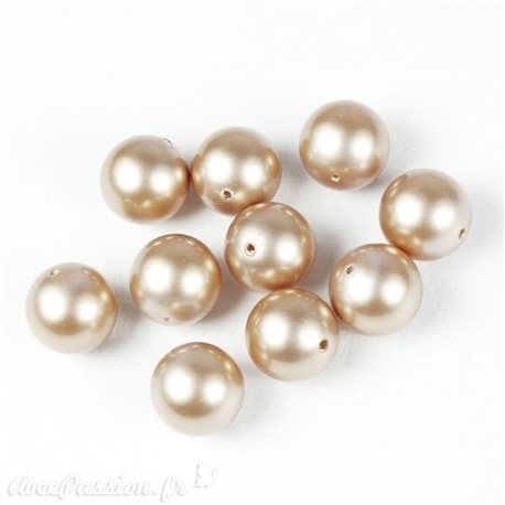 Perles culture champagne 10mm x5 - - - - -100photo