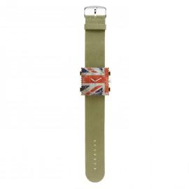 Bracelet de montre Stamps kaki Jack rough vintage