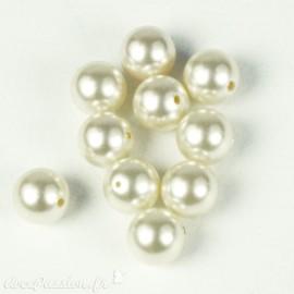 Perles de culture creme 7 mm