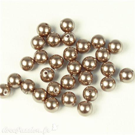 Perles de culture couleur cuivre 5 mm