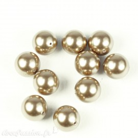 Perles de culture couleur bronze 10 mm