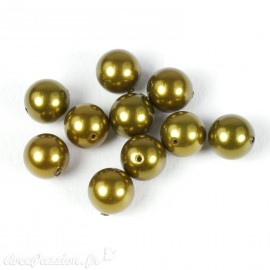 Perles de culture couleur olive 7 mm