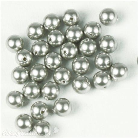 Perles de culture couleur argent 5 mm