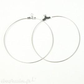 Apprêt Boucles d'oreilles créoles argent 5 cm